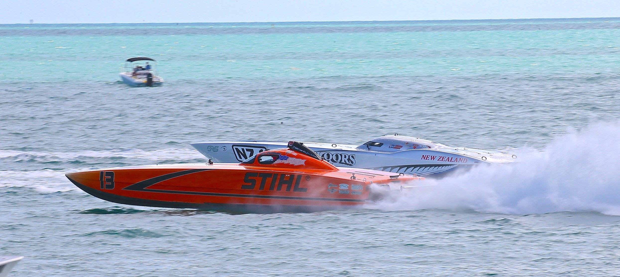 STIHL took third-place overall in last week's three-race Super Boat International Offshore World Championships. Photo by Pete Boden/Shoot 2 Thrill Pix. (https://www.facebook.com/Shoot-2-Thrill-Pix-130528070292399/)