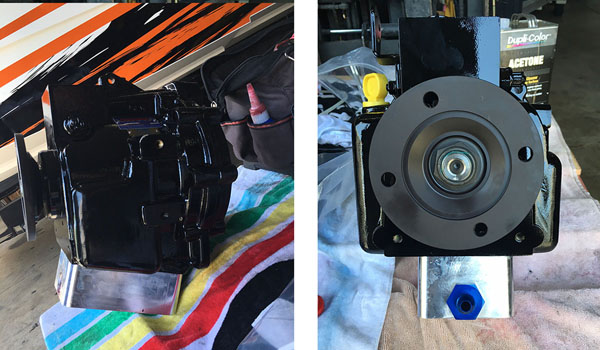 Brand X recently installed new BAM Marine replacement transmissions for Mercury's NXT drives on a Skater 368 catamaran. Photos courtesy Jason Ventura