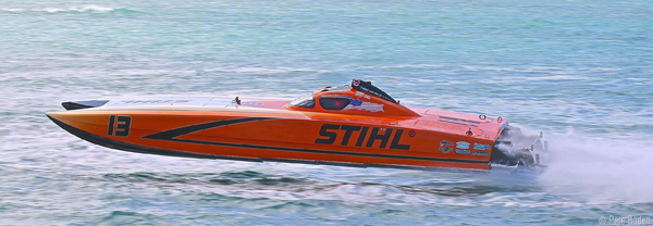 OSOTRULIO304-03 Superboat-class rookie driver Jake Noble excelled with STIHL teammate Grant Bruggemann. Photo by Pete Boden/Shoot 2 Thrill Pix. (https://www.facebook.com/Shoot-2-Thrill-Pix-130528070292399/?fref=ts)