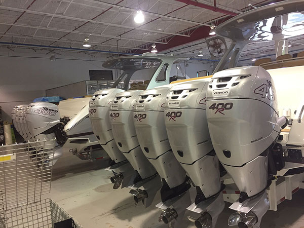 Performance Boat Center was in Miami for the Cigarette Racing Team Open House in early November. Photo courtesy Brett Manire