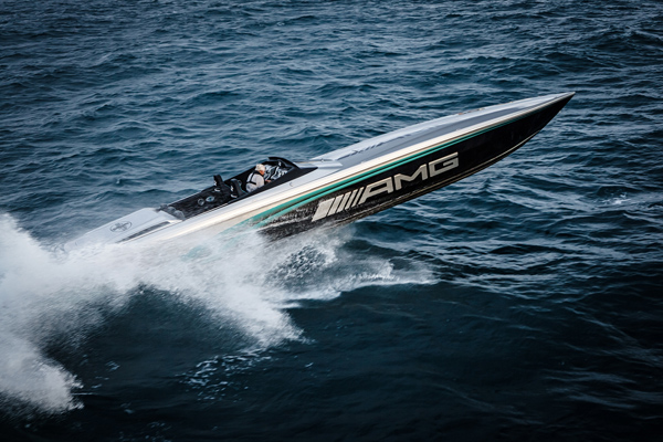 The Cigarette-AMG 50 Marauder Monaco shared the spotlight with Mercedes-AMG/Petronas Formula One team during the 2016 Monaco Grand Prix.