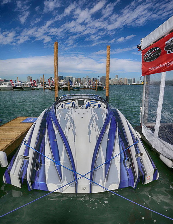Located in the same place with the same amazing view of Miami, MTI is planning to have several catamarans and center consoles on display at the docks this year.
