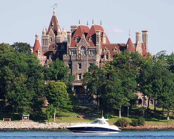 During the poker run, you can get an up-close look at the legendary Boldt Castle, which is located near Alexandria Bay, N.Y., in the famed 1000 Islands. Photo courtesy Lorrie Guler